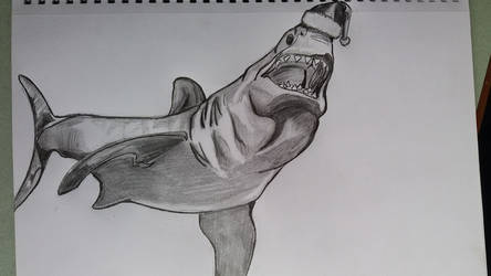 Christmas shark by EnemyoftheSteak