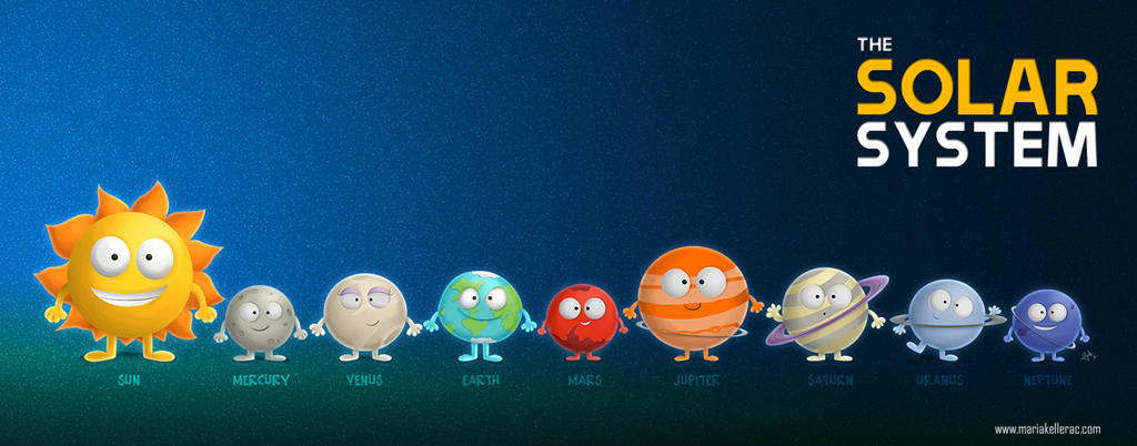 the solar system words cute font - photo #31