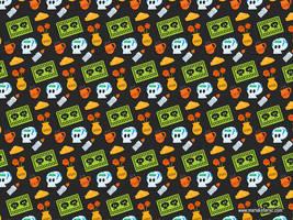 Dia de muertos pattern by KellerAC
