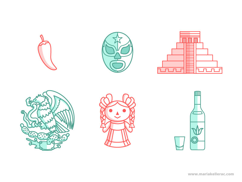 Mexican icons by KellerAC