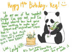 Key b-day card