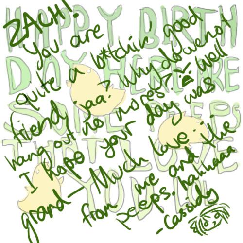 Zach b-day card by genusarcturus