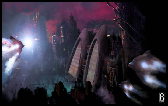 SPEED PAINT - Sci-Fi City Scape
