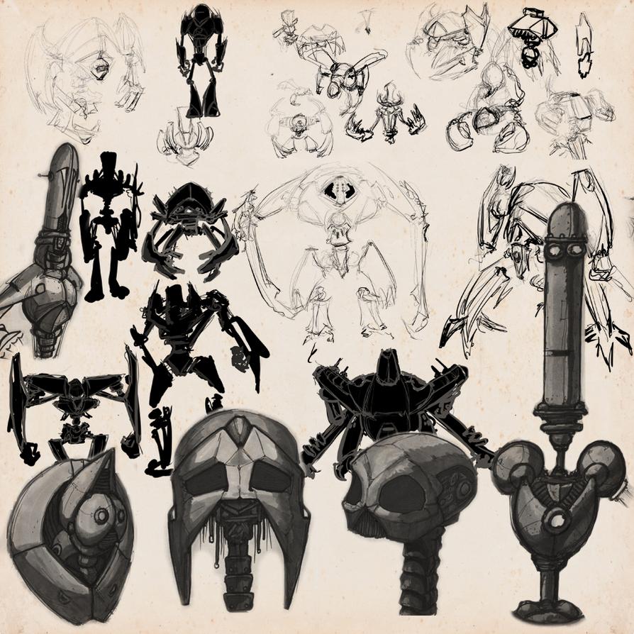 SKETCHBOOK - Robot Doodles 01 by VR-Robotica