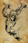 OLD SKETCHBOOK - TMNT Comic Board Sketch - 04