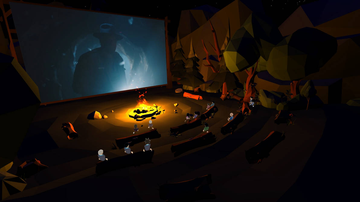 Low Poly Campfire by VR-Robotica