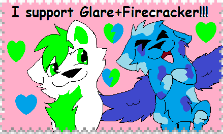 I support Glare+Firecracker stamp (big) by Obsidianthewolf
