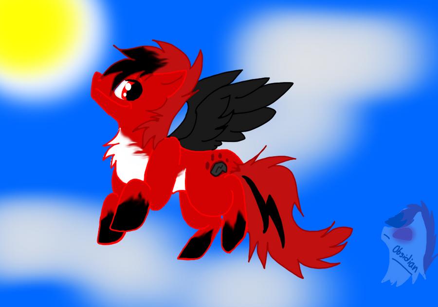 Obsidian is a pony?! by Obsidianthewolf