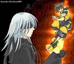 Sora and Riku - In Flames