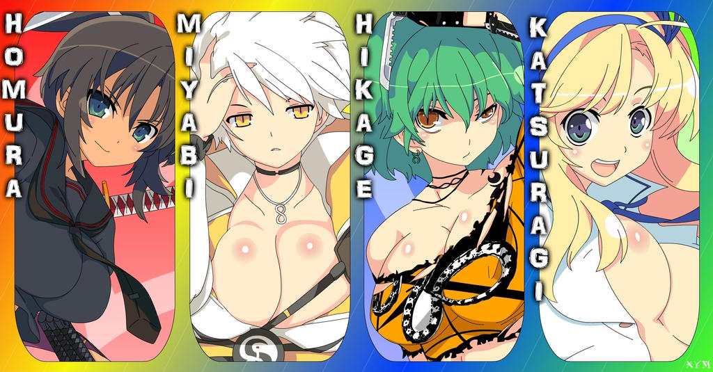 Senran Kagura - The Favourite Four by Xpand-Your-Mind