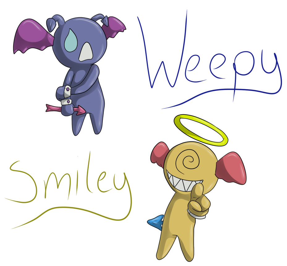 Weepy and Smiley by Kendulun-the-Kihoryu