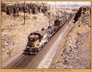 Columbia River Way Freight by classictrains