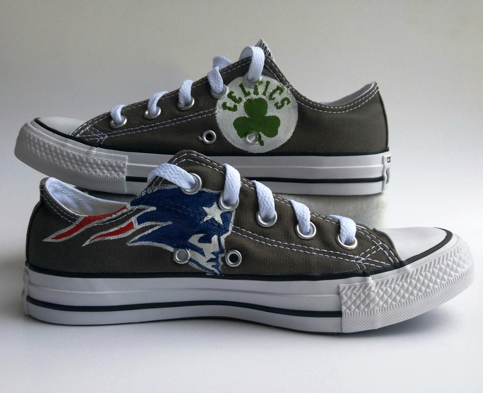 boston sports team shoes by manaartcrafts on deviantart