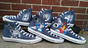 Decepticon painted shoes