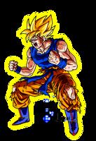 Goku Ssj Saga Freezer Color Aura Saiyajin by ElvtrKai