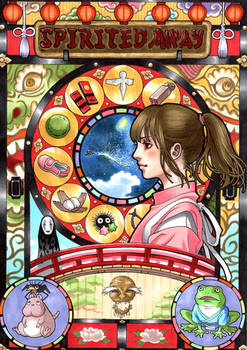 spirited away  Mucha style