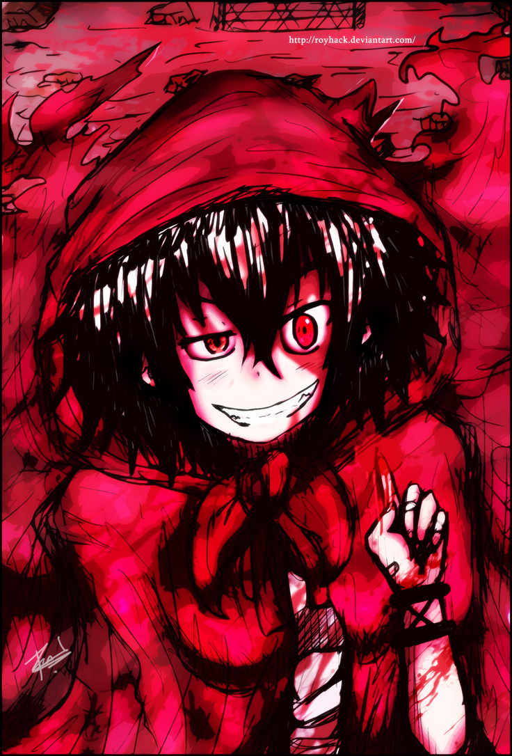 the gallery for gt psychotic smile anime girl