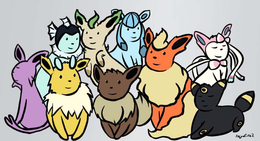 Eeveelutions by aquafire2