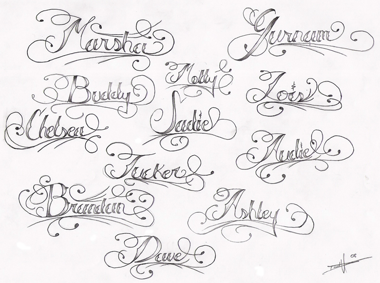 Page O Names Tattoo Flash By Aworldasleep