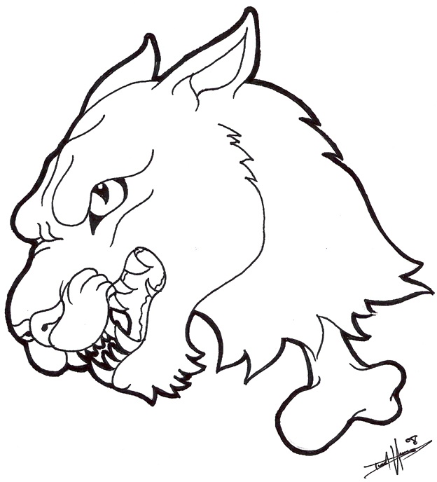 Traditional panther tattoo outline - photo#14