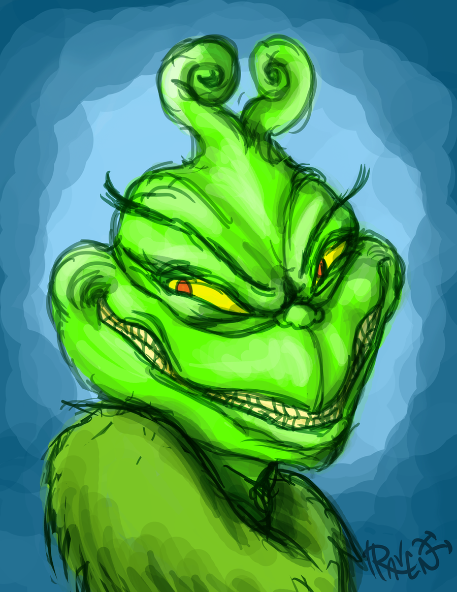 Evil Grin Grinch Daily sketch - the grinch by