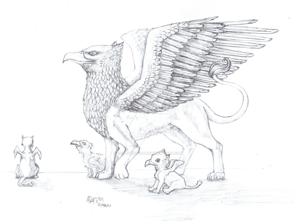 Griffon Family by cactuarZrule