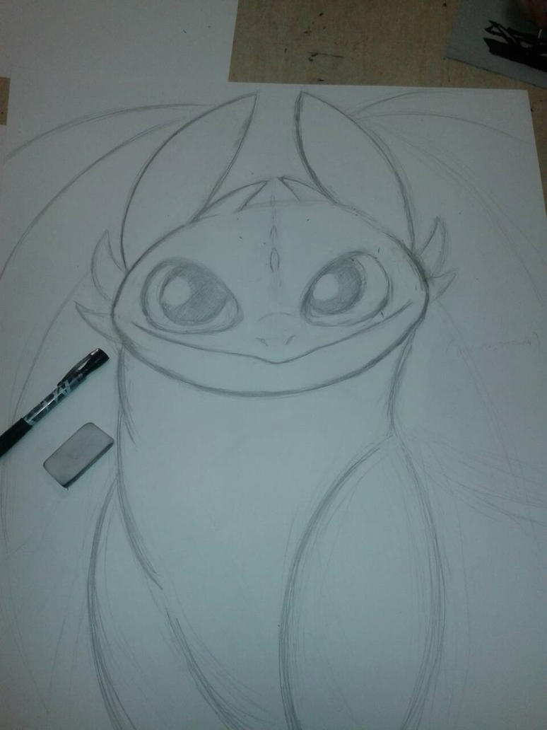 Toothless sketch [Trad.] by UmbreKino