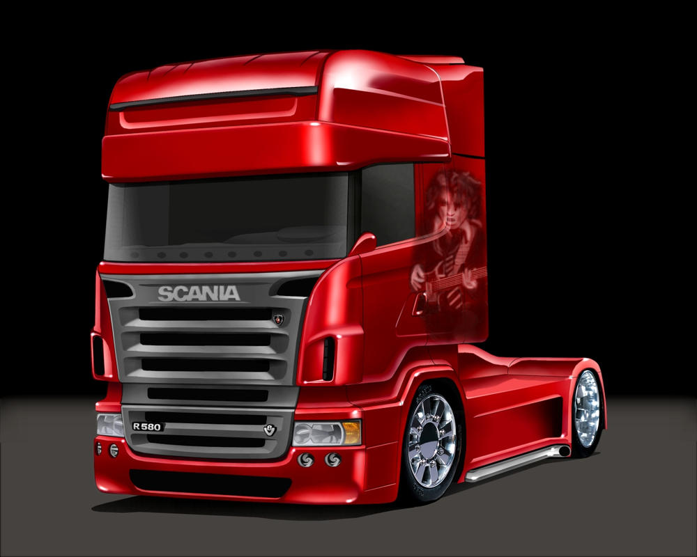 Scania R164 Toon Art by LindStyling