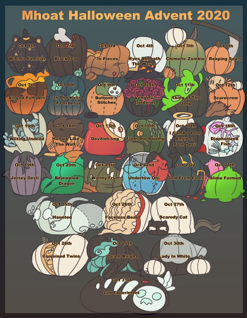 (OPEN) Mhoats: Halloween Advent 2020