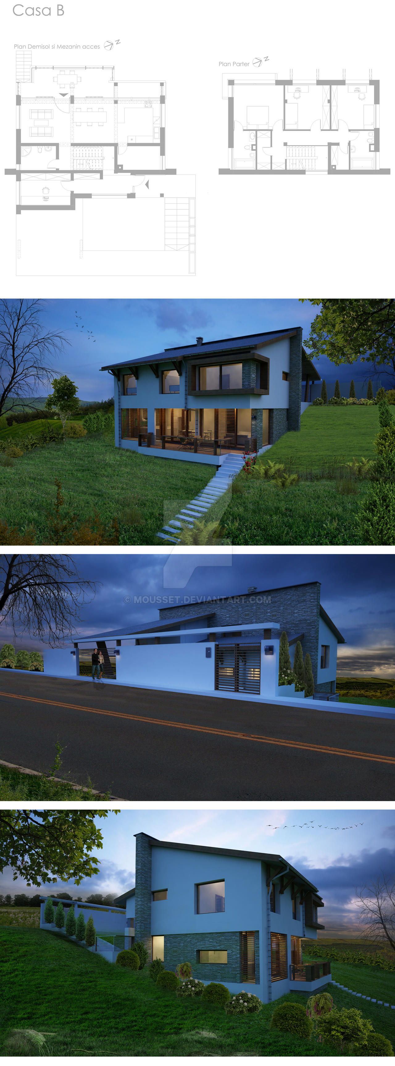 B house by mousset on deviantart for B house