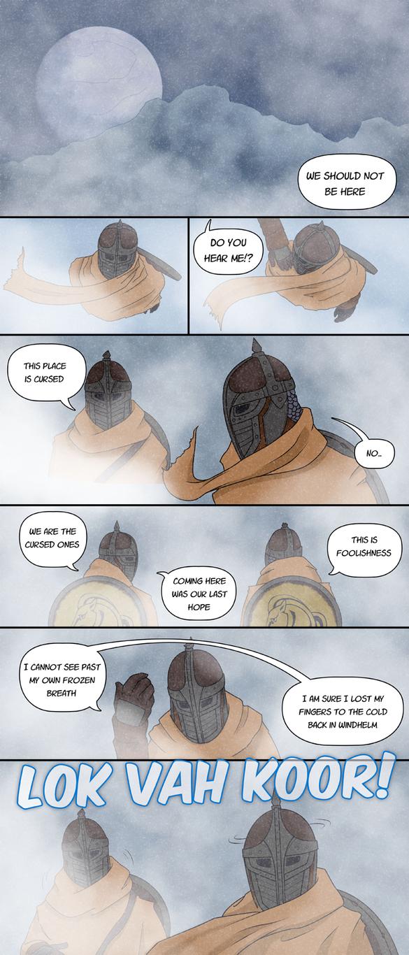 Enter Skyrim - Pg 1 - Approaching Winterhold by deathreborn