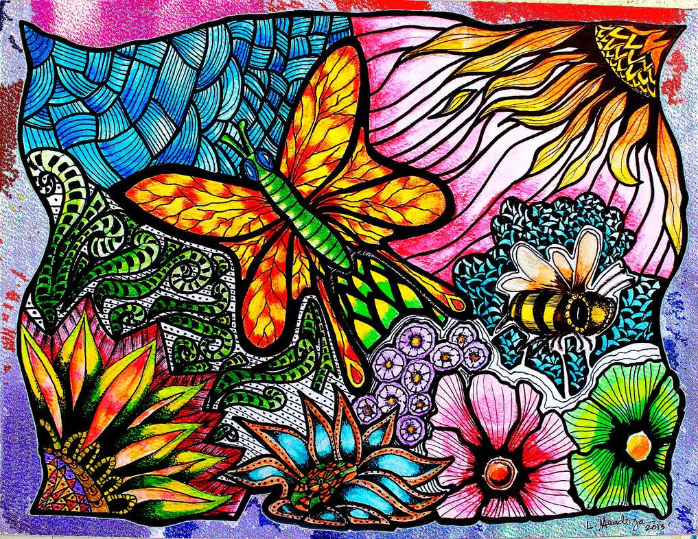 Butterfly Zentangles by Eiuol7Zentangles Butterfly