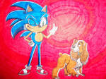 Main characters Sonic and Lady (Remake!)