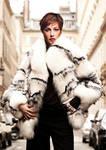 FMF Monica Bellucci White and Black Furs