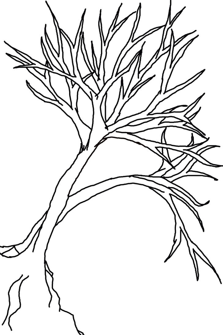 Line Art Tree : Tree lineart by moyashi chan on deviantart