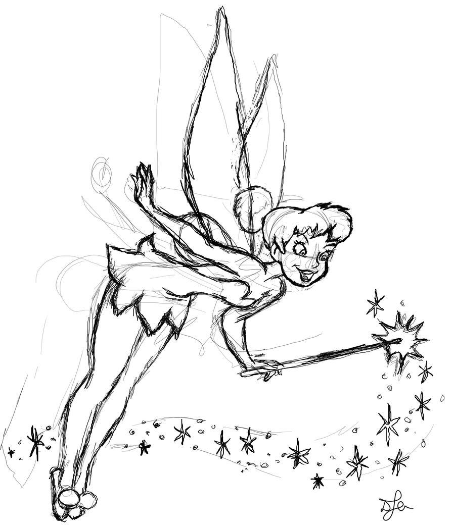 Tinkerbell Sketch By David J Addante On Deviantart