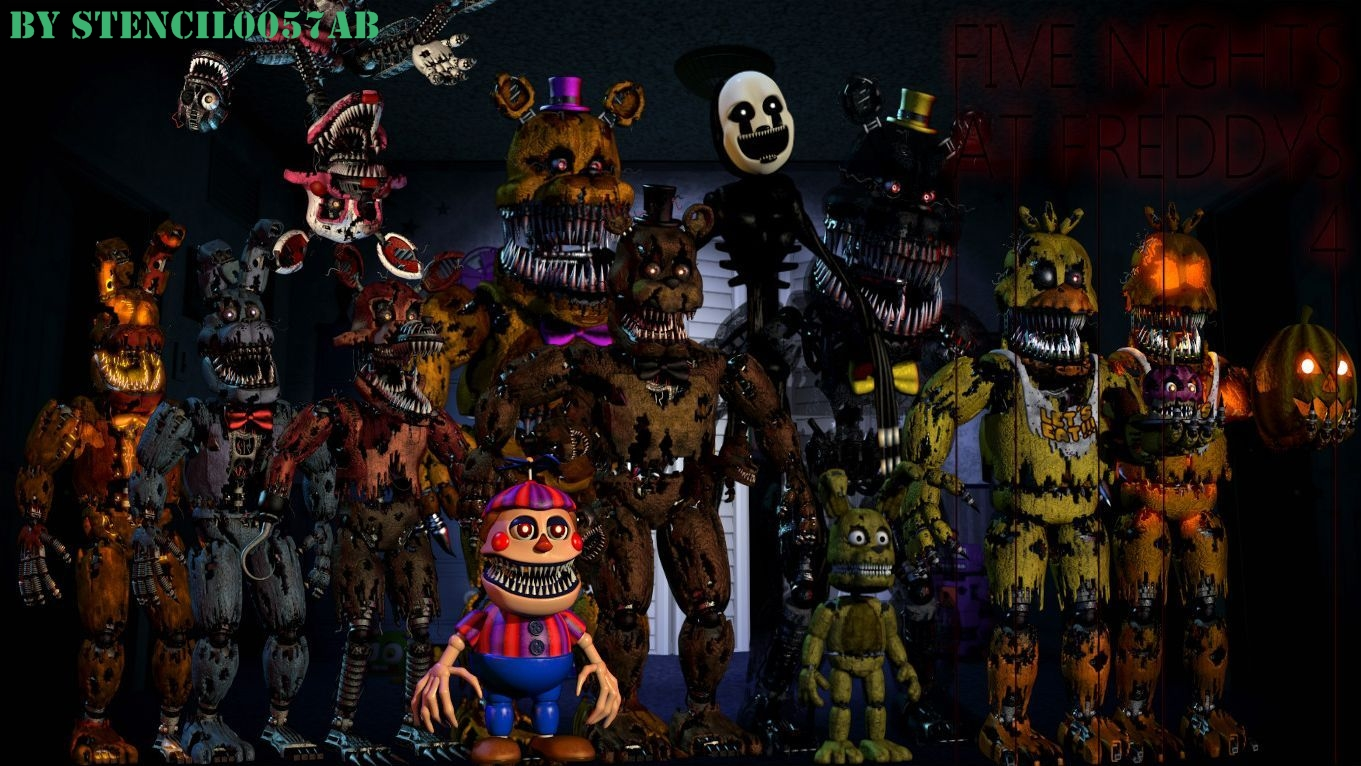 Five Nights At Freddy S 4 Wallpaper By Stencil0057ab On Deviantart