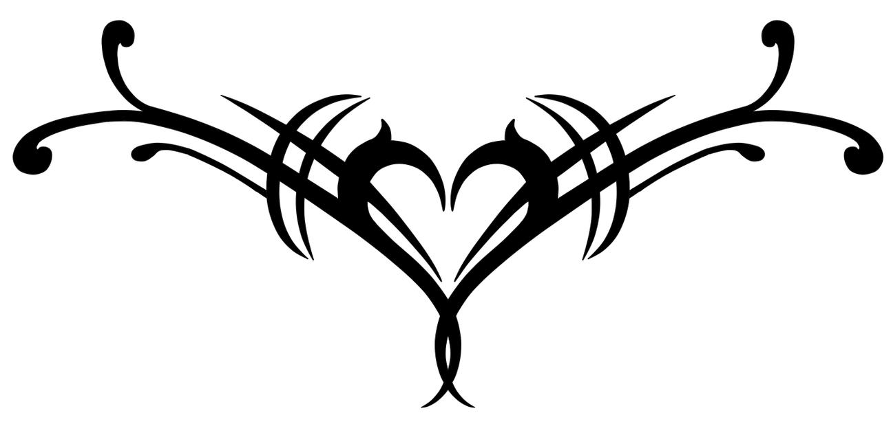 Drawings Of Tribal Hearts Tribal Heart by Vulcan...