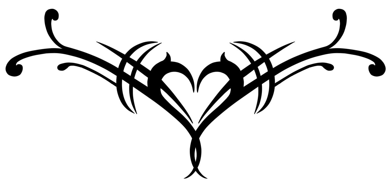 Tribal Broken Heart Drawings