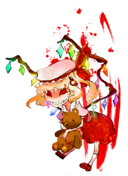 Flandre Scarlet sticker by zacaria-world