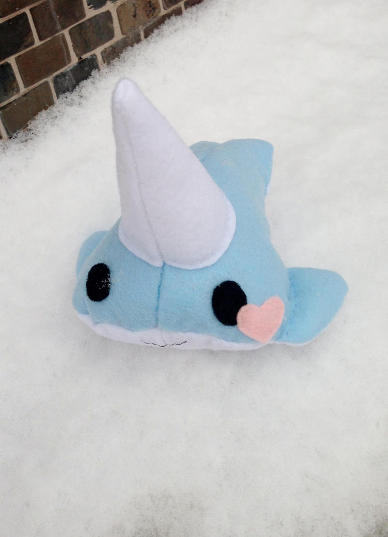 Narwhal playing in the snow by FireLightPhoenix