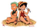 One Piece - Luffi and Zoro