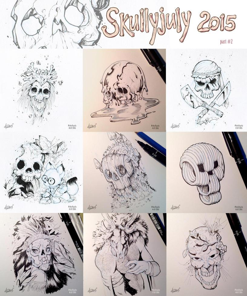 Skullyjuly 2015 part 2 by redisoj
