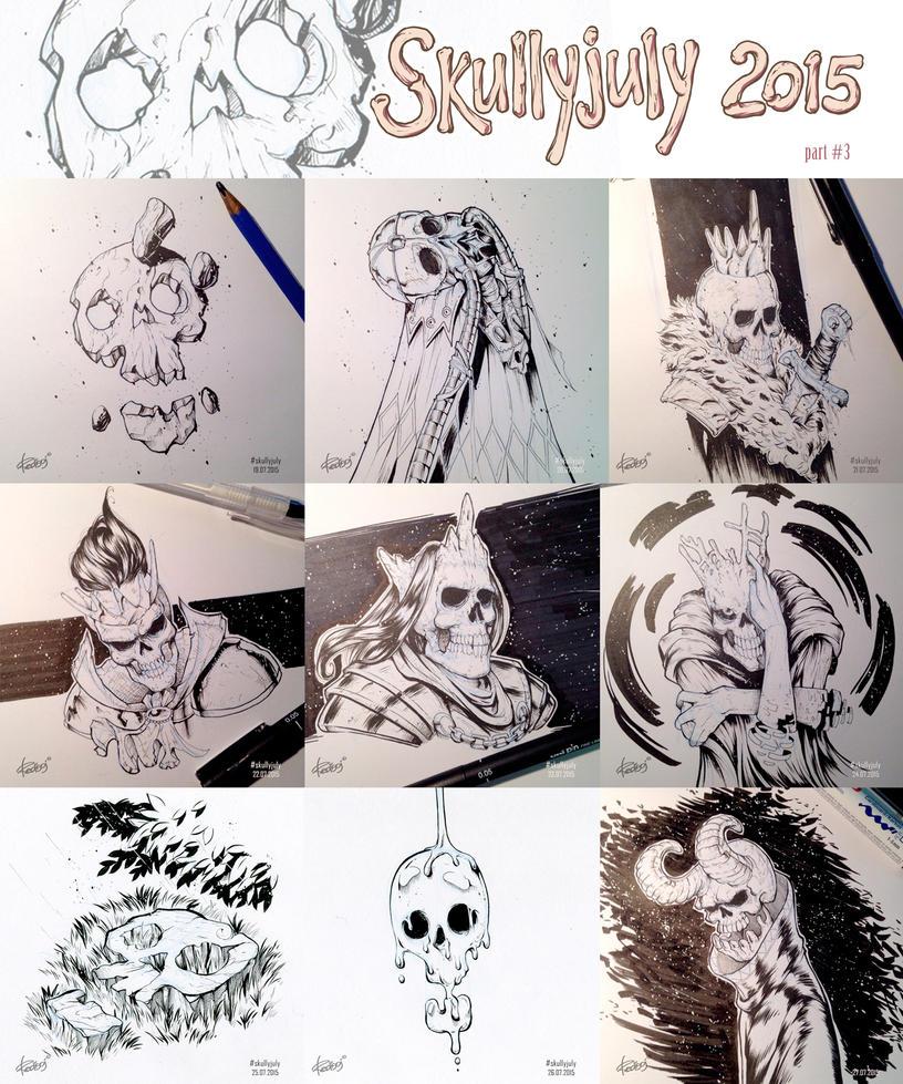 Skullyjuly 2015 part 3 by redisoj