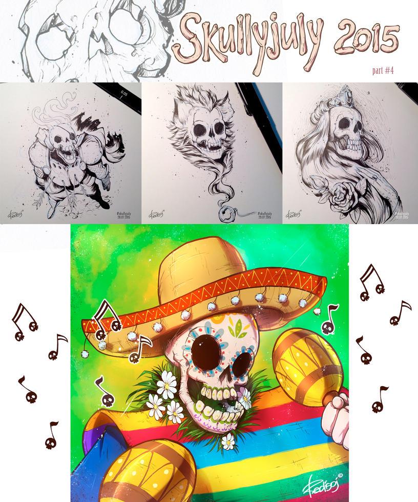 Skullyjuly 2015 part 4 by redisoj