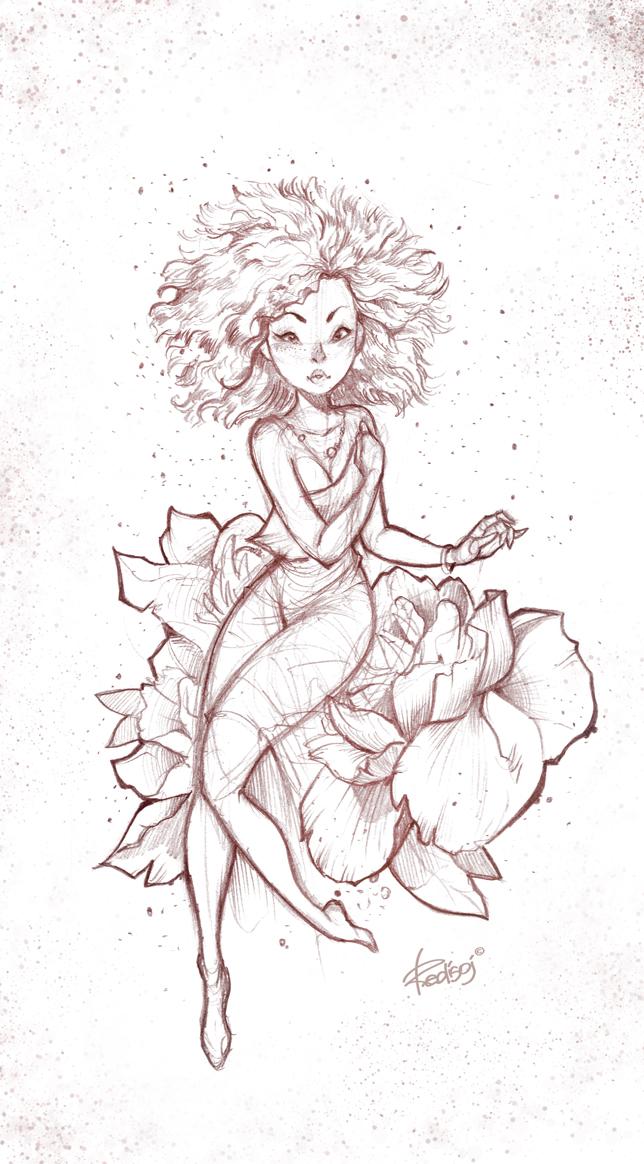 FLOWER GIRL by redisoj