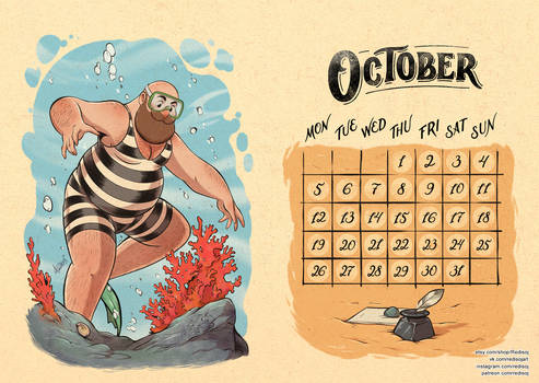 The Warm Calendar 2020 Oktober