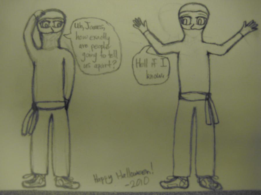 Zach and James as ninjas by MagicMidtown