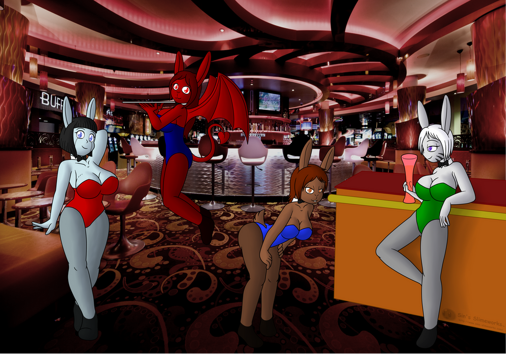 Commission: Bar Bunnies by Sin-R