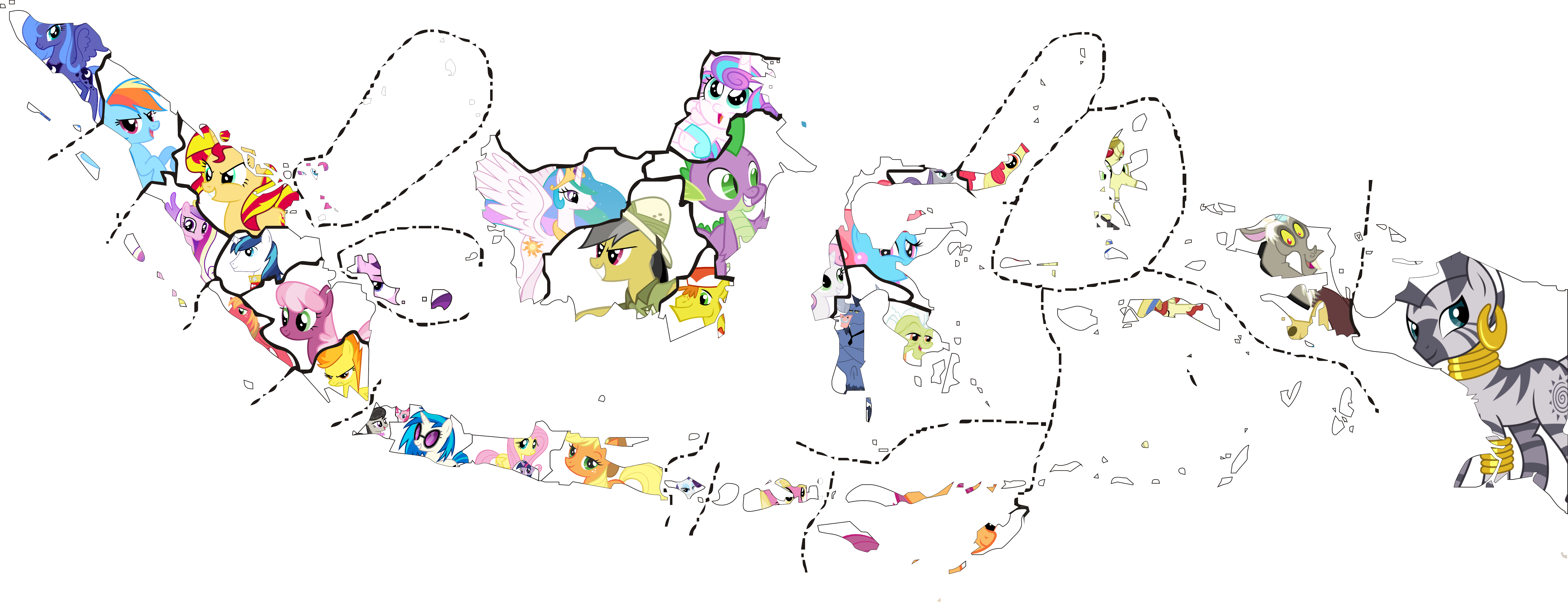 indonesia map my little pony transparent
